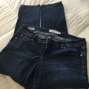 Torrid Dark Wash Navy Boyfriend Jeans Sz 12R